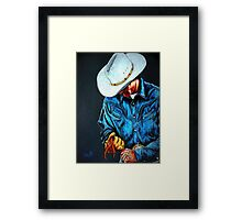 Chisholm...Portrait Of A Cowboy Framed Print