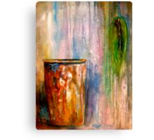The Sap Bucket...A Still Life Canvas Print