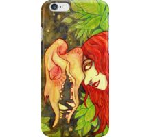 Red Haired Skull Watercolor Painting iPhone Case/Skin