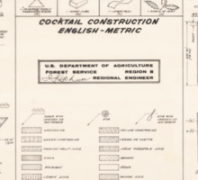 Cocktail Construction Chart by United States Forest Service Sticker