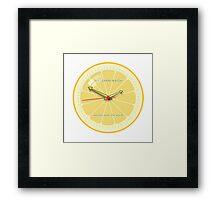 THE LEMON WATCH Save Orange Framed Print