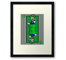 Plumber card Framed Print