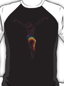Gay Christ Wairing Rainbow LGBT Loincloth T-Shirt