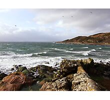 Green Sea and White Horses, Bute Photographic Print