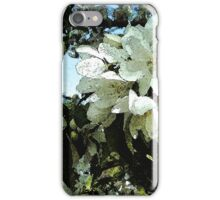 Spring white blossoms, tree art, watercolor, impressionism iPhone Case/Skin