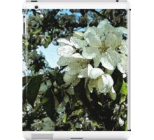 Spring white blossoms, tree art, watercolor, impressionism iPad Case/Skin