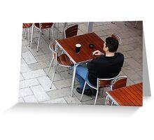 Man Alone Greeting Card