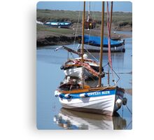 Boats in the Harbour Canvas Print