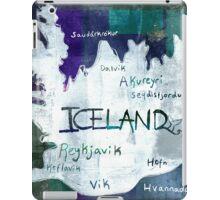 Iceland Map iPad Case/Skin