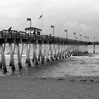 Fishing Pier B&W by Laura Cardello