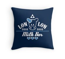LonLon Milk Bar Throw Pillow