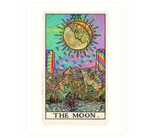 Psychadelic Tarot- The moon Art Print