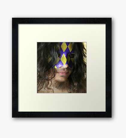 The Unhappy Jester Framed Print