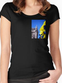 Gorodetsky House With Flags, Kyiv (Kiev) Women's Fitted Scoop T-Shirt