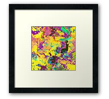Abstract Purple Yellow Noise Texture Framed Print