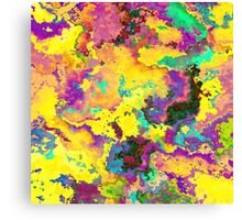 Abstract Purple Yellow Noise Texture Canvas Print