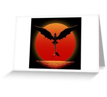 Dragon on Sunset Greeting Card
