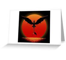 Dragon on Sunset Greeting Card