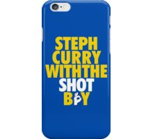 Steph Curry With The Shot Boy [Yellow/Gold] iPhone Case/Skin