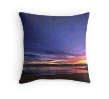 Tahoe Winter Sunset Throw Pillow