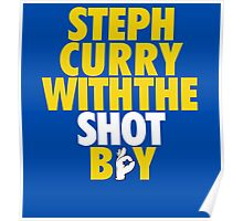 Steph Curry With The Shot Boy [Yellow/Gold] Poster