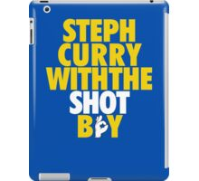 Steph Curry With The Shot Boy [Yellow/Gold] iPad Case/Skin