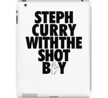 Steph Curry With The Shot Boy [Black] iPad Case/Skin