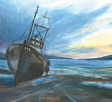 High & dry on an ebbing winter's tide by artyfifi