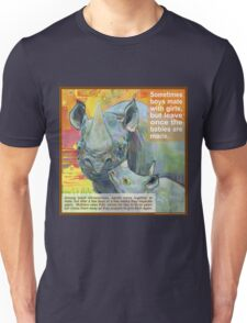 Single mom (Black rhinoceros) Unisex T-Shirt