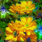 bright flowers ( yelow and green)...! by sendao