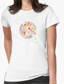 Whimsical Colorful Spring Flowers Pop Tree II T-Shirt
