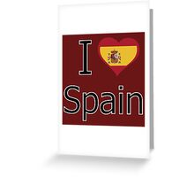 I love Spain Greeting Card