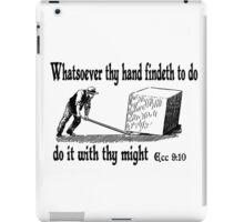 ECCLESIASTES 9:10  JUST DO IT iPad Case/Skin