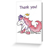 Glitter Grad (Thank You Card) Greeting Card
