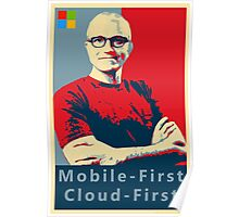 Satya Mobile First Cloud First Street Poster Poster