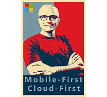 Satya Mobile First Cloud First Street Poster Photographic Print