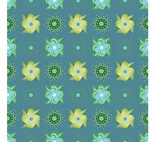 Abstract green flowers pattern Photographic Print