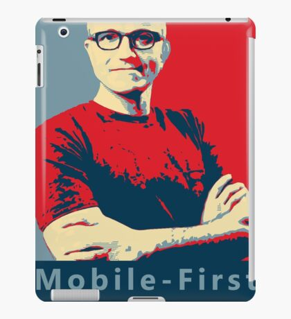 Satya Mobile First Cloud First Street Poster iPad Case/Skin