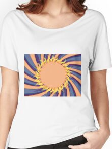 Abstract sunny background Women's Relaxed Fit T-Shirt
