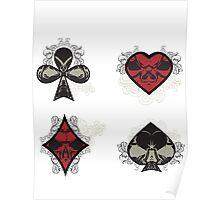 Diamonds, Clubs, Spades, Hearts Poster