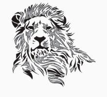 Vintage Pattern Lion by JeanMich3