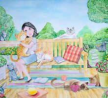 The girl and the cats by Wil Zender