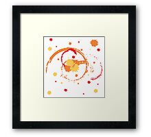 Colorful Brush Strokes Framed Print