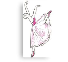 sketch of girls ballerina standing in a pose Canvas Print