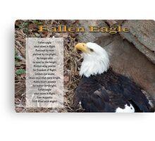 Fallen Eagle Canvas Print