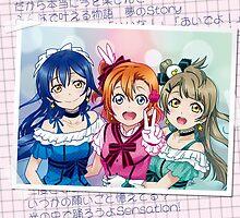 Honoka, Umi & Kotori (KiRa-KiRa Sensation edit) by alphavirginis