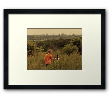 Dog and His Boy Framed Print