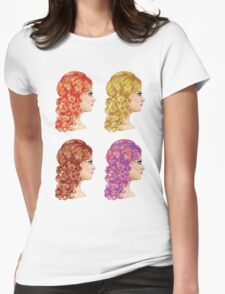 Curly Hairstyle Womens Fitted T-Shirt