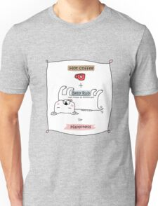 Hot coffee + belly rub = happiness / Dog doodle Unisex T-Shirt