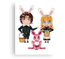 Easter Boy and Girl 2 Canvas Print